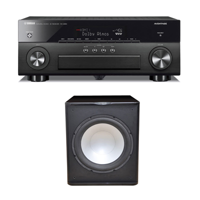 Premier Acoustic PA-150 Subwoofer with Yamaha Aventage RX-A870 Receiver