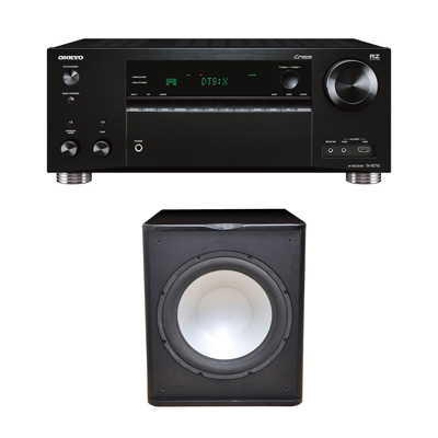 Premier Acoustic PA-150 Subwoofer with Onkyo TX-RZ720 7.2 Channel Network A/V Receiver