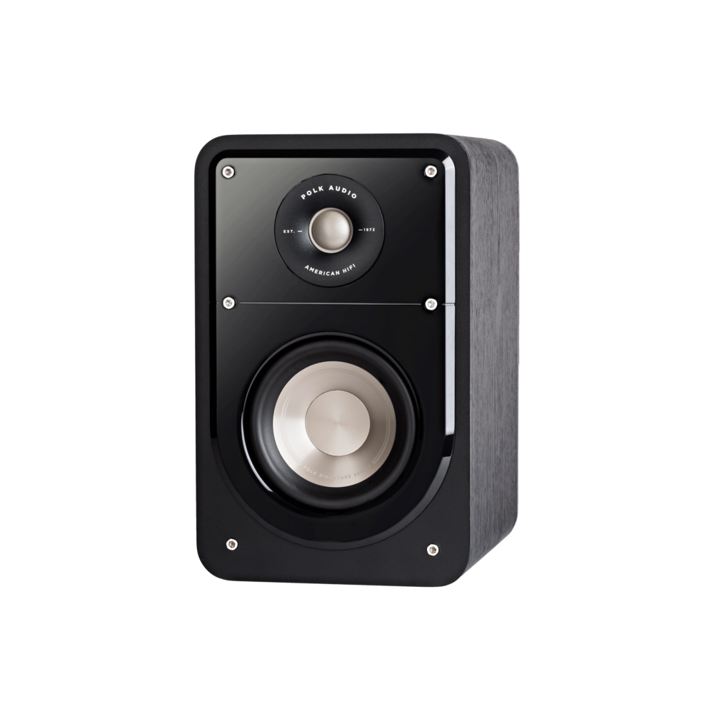 Polk Audio S15-BLK Washed Black Walnut Home Theater Compact Bookshelf Speaker - Pair