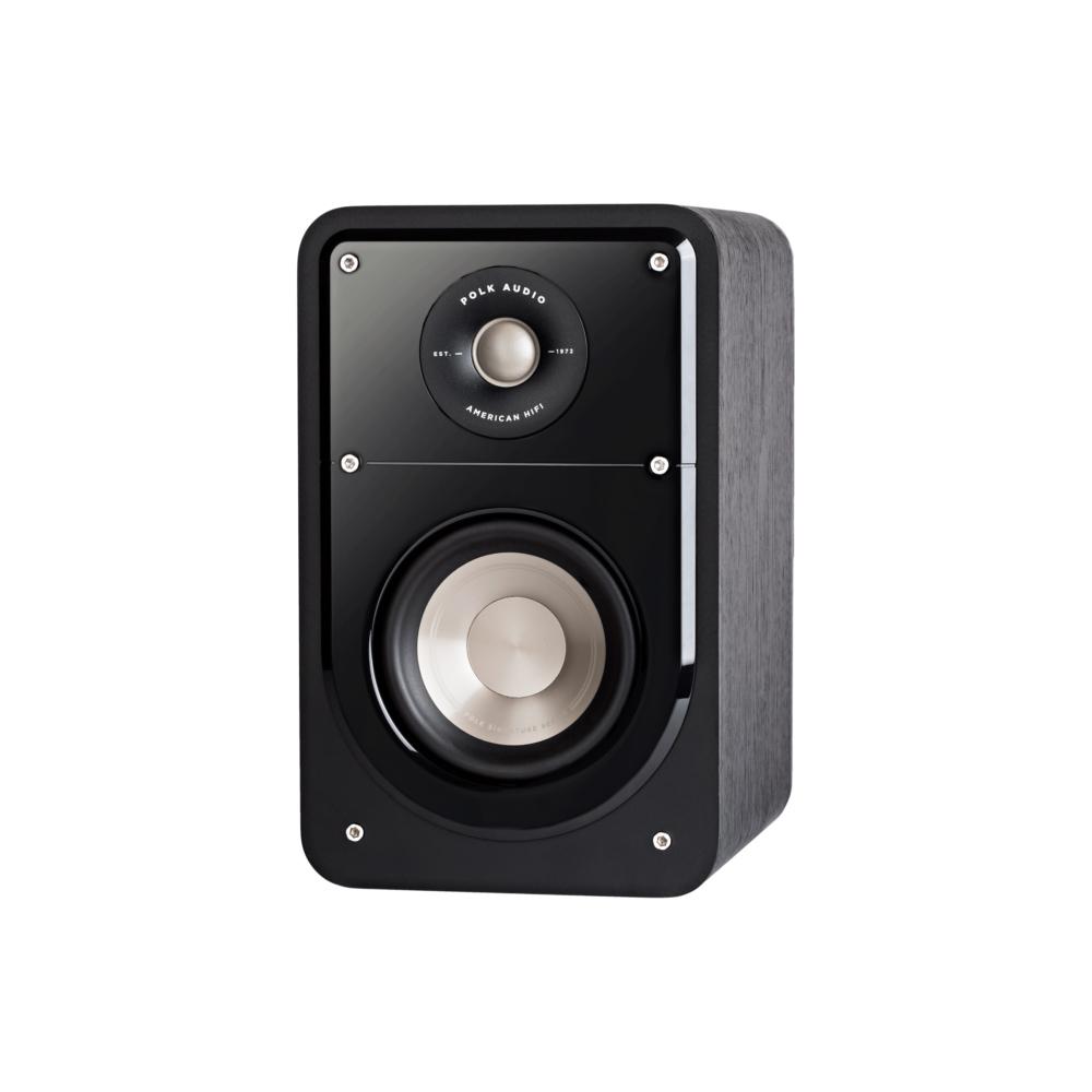 Polk Audio S15-BLK Washed Black Walnut Home Theater Compact Bookshelf Speaker - Pair