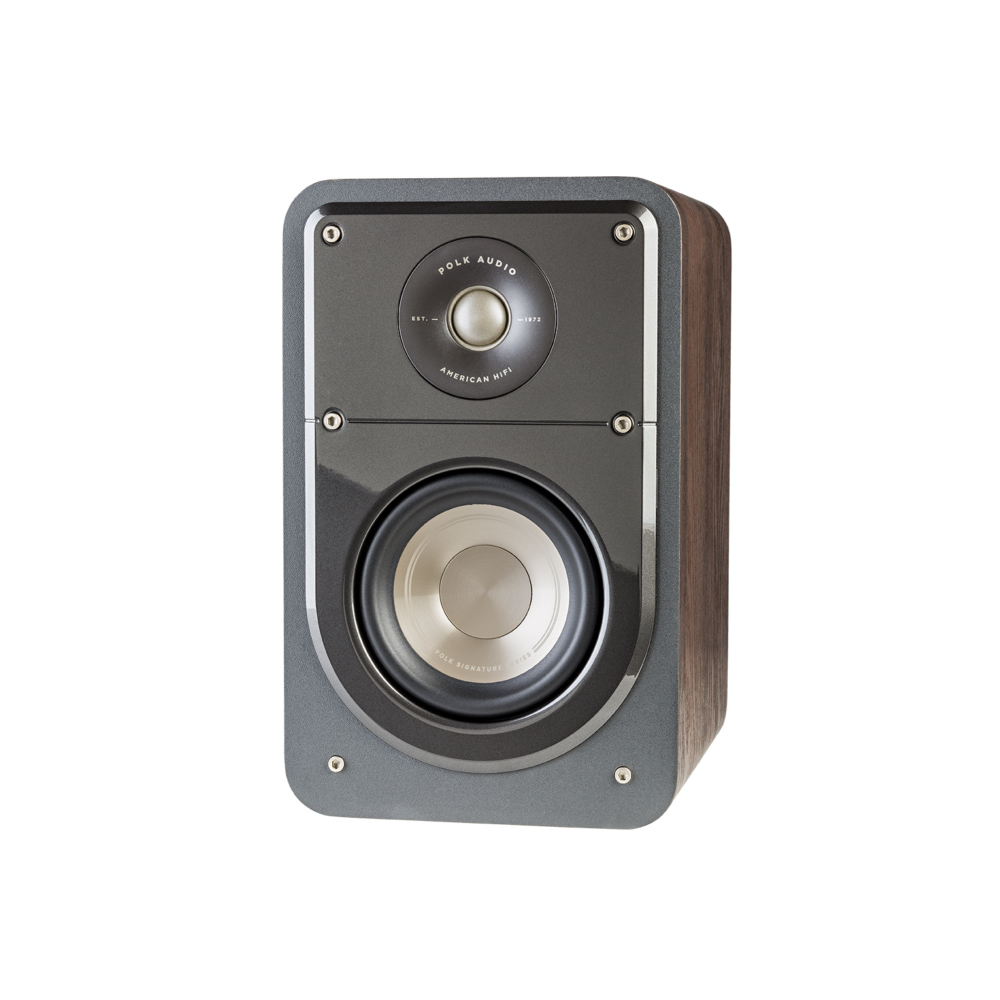 Polk Audio S15-BR Classic Brown Walnut Home Theater Compact Bookshelf Speaker - Pair