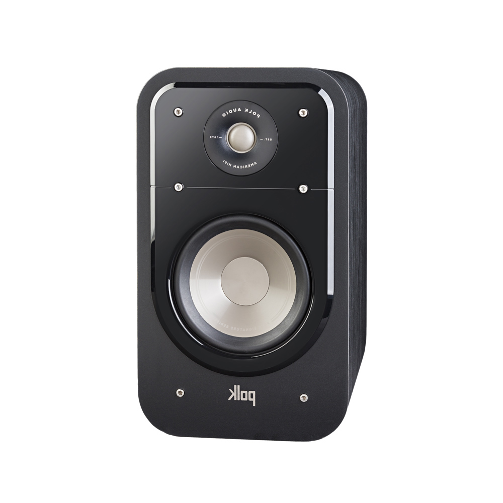 Polk Audio S20-BLK Washed Black Walnut Home Theater Bookshelf Speaker - Pair