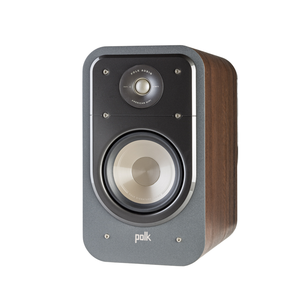 Polk Audio S20-BR Classic Brown Walnut Home Theater Bookshelf Speaker - Pair