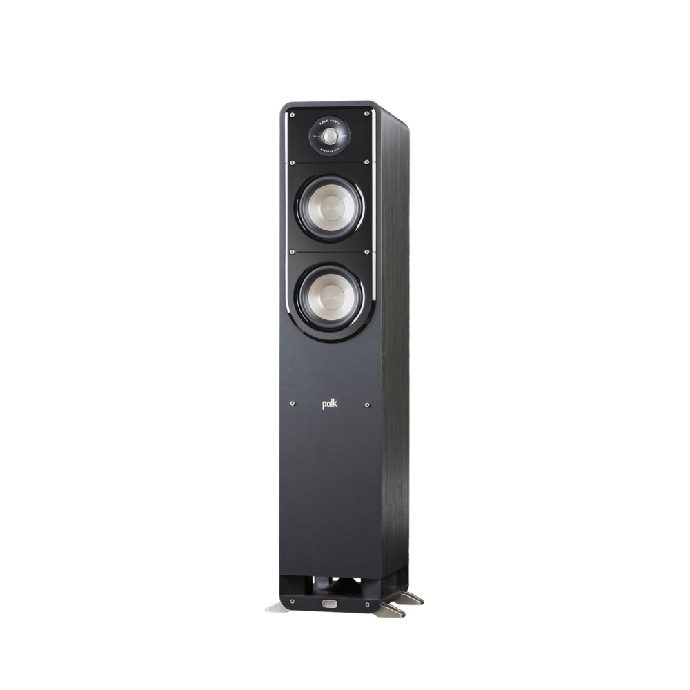 Polk Audio S50-BLK Washed Black Walnut Home Theater Tower Speaker