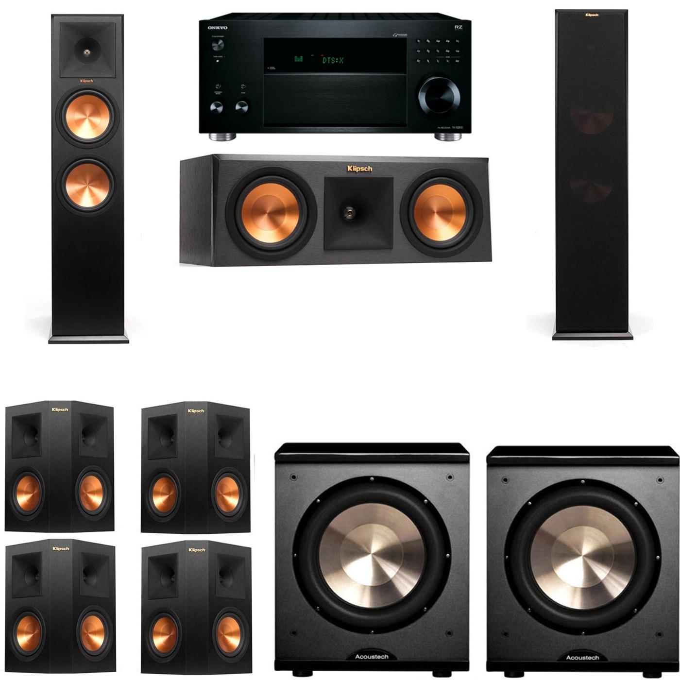 Klipsch RP-280F Tower Speakers-RP-250C-PL-200-7.2-Onkyo TX-RZ810