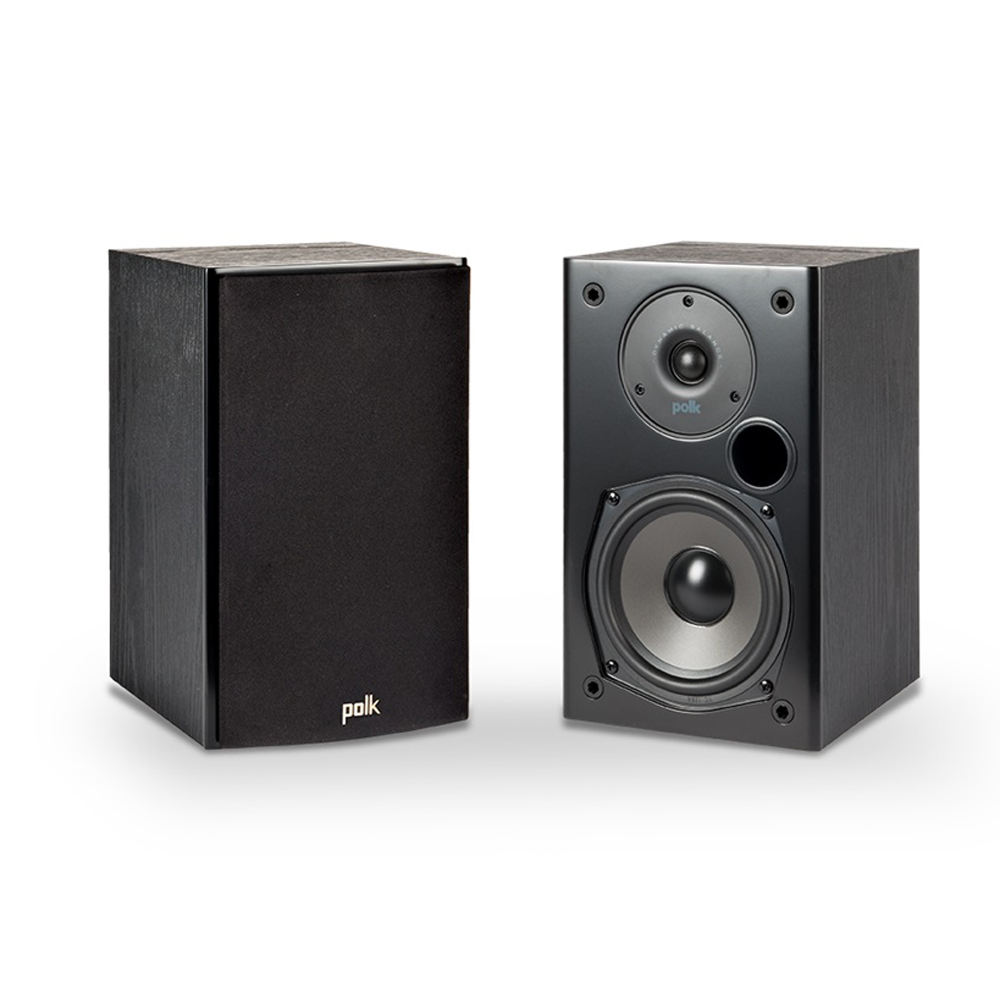 Polk Audio T15 Black Home Theater and Music Bookshelf Speaker - Pair