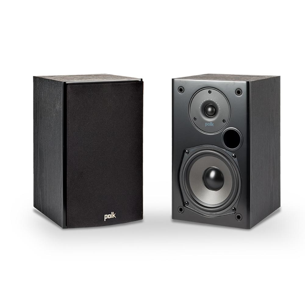 Polk Audio T15 Black Home Theater and Music Bookshelf Speaker - Pair