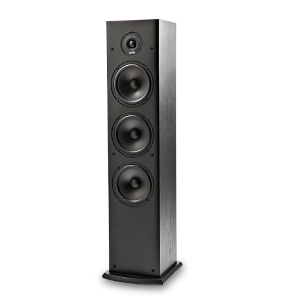 Polk Audio T50 Black Home Theater and Music Floorstanding Tower Speaker