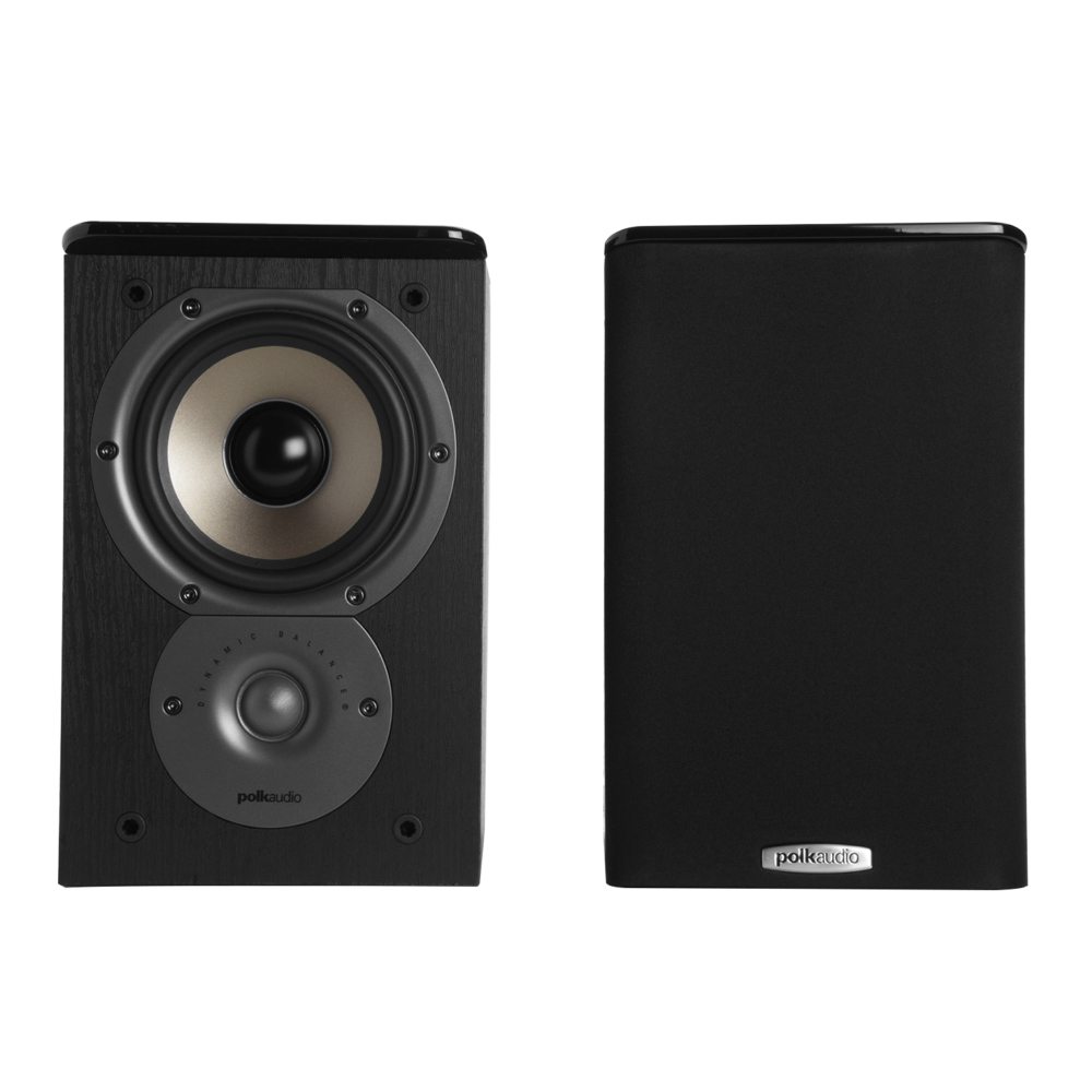 Polk Audio TSi Series Tsi-100-BLK Black 2-Way Bookshelf Speaker - Pair