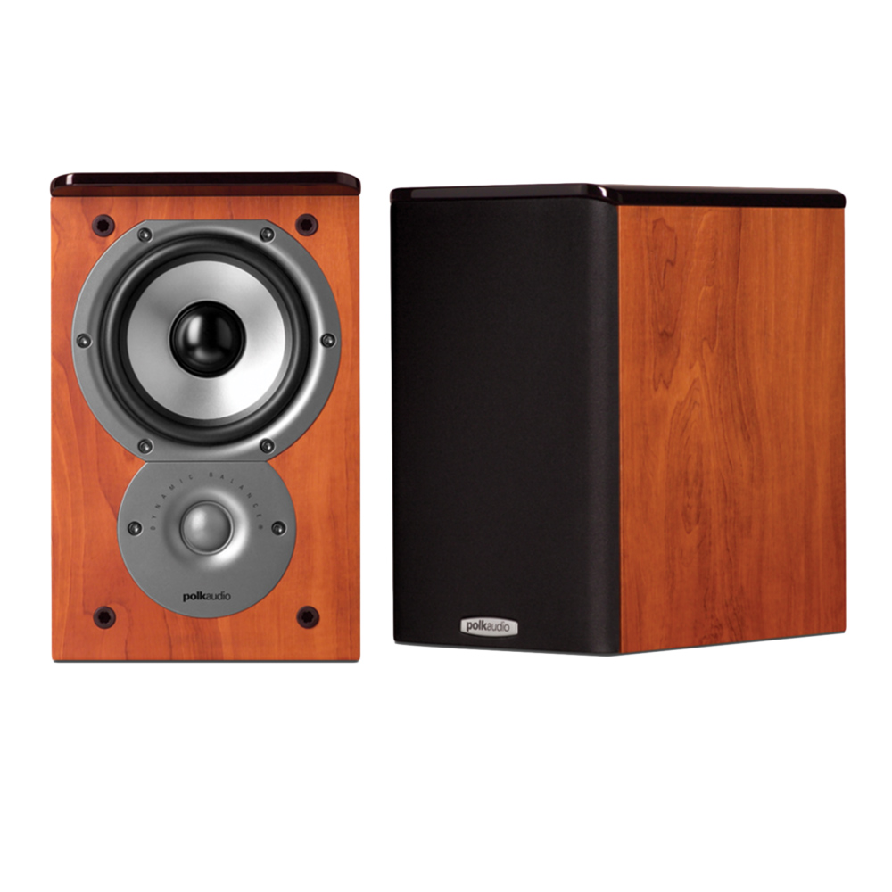 Polk Audio TSi Series Tsi-100-CH Cherry 2-Way Bookshelf Speaker - Pair