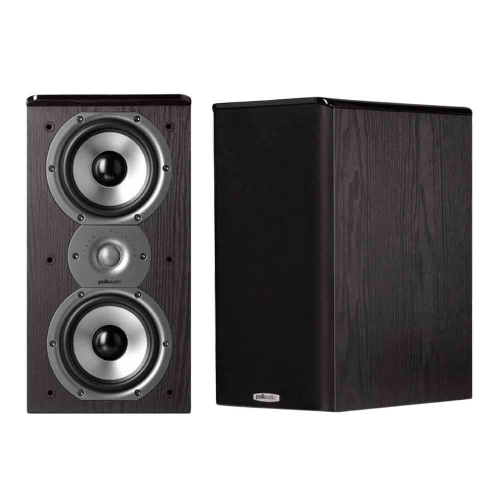 Polk Audio TSi Series Tsi-200-BLK Black 2-Way Bookshelf Speaker - Pair