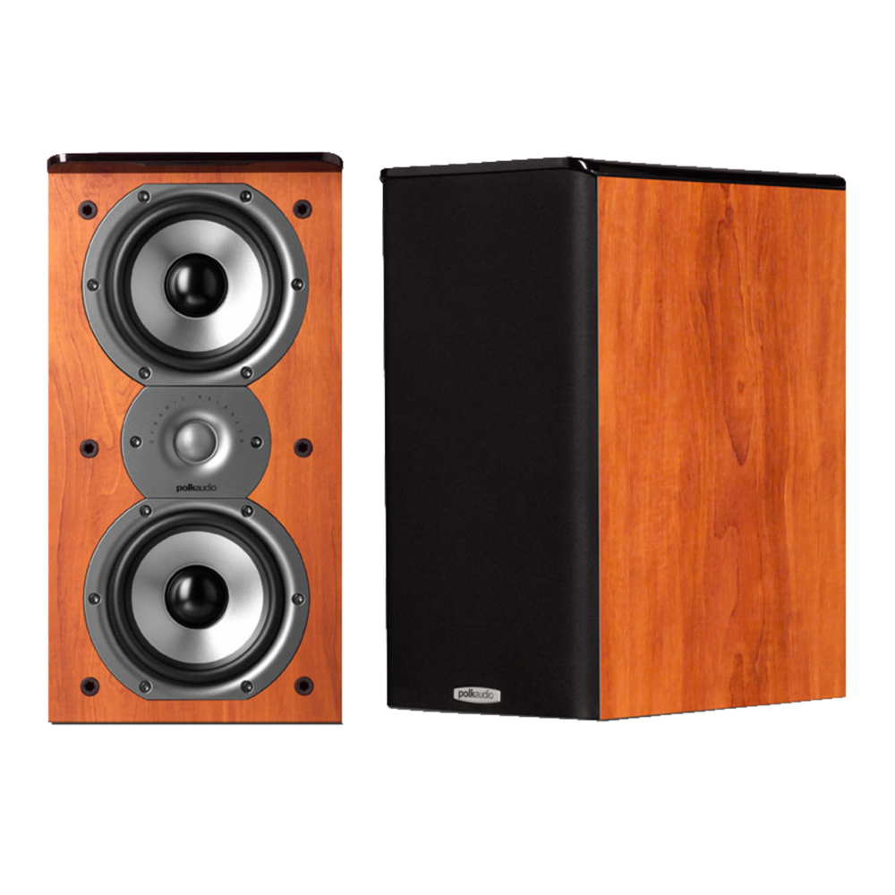 Polk Audio TSi Series Tsi-200-CH Cherry 2-Way Bookshelf Speaker - Pair