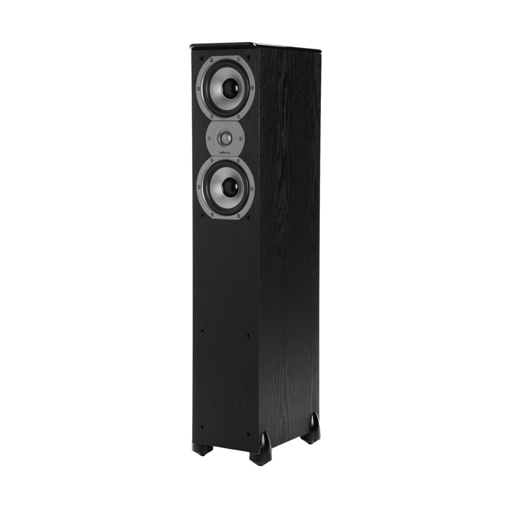 Polk Audio TSi Series Tsi-300-BLK Black 3-Way Floorstanding Tower Speaker