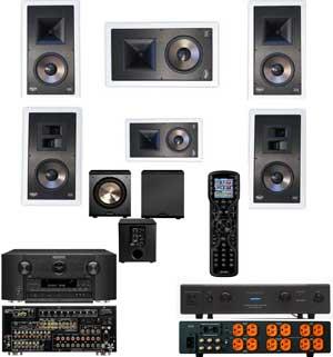 Klipsch KL-7800-5.1 Wall-Marantz SR7007-Furman Elite-20-URC MX450-Free PL-200