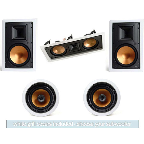 Klipsch R3650 In Wall System FREE SUBWOOFER!