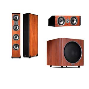 Polk Audio 3.1 TSi500 Cherry Tower Speaker System-FREE PSW 110