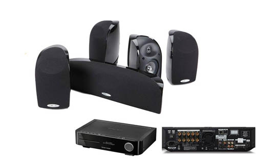 Polk Audio Blackstone TL350 System-Harman BDS 5.1 AV Receiver and Blu-Ray
