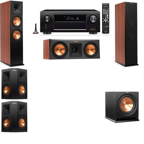 Klipsch RP-280F Tower Speakers CH-RP-250C-R-112SW-5.1-Denon AVR-X3200W