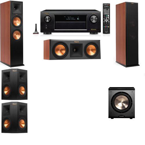Klipsch RP-280F Tower Speakers CH-RP-250C-PL-200-5.1-Denon AVR-X3200W