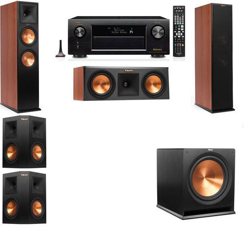 Klipsch RP-280F Tower Speakers CH-RP-250C-5.1-Denon AVR-X3200W