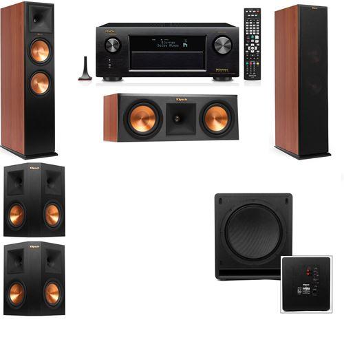 Klipsch RP-280F Tower Speakers CH-RP-250C-SW-112-5.1-Denon AVR-X3200W