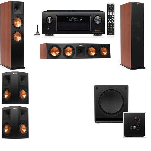 Klipsch RP-280F Tower Speakers CH-SW-112-5.1-Denon AVR-X4200W