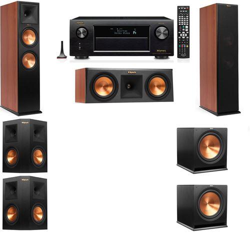 Klipsch RP-280F Tower Speakers CH-RP-250C-5.2-Denon AVR-X3200W