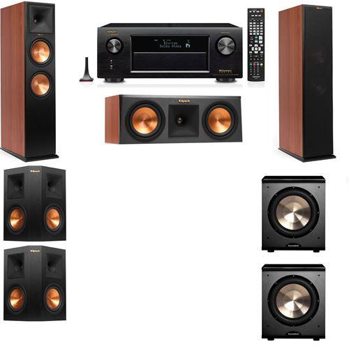 Klipsch RP-280F Tower Speakers CH-RP-250C-PL-200-5.2-Denon AVR-X3200W