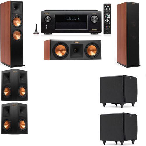 Klipsch RP-280F Tower Speakers CH-RP-250C-SDS12 -5.2-Denon AVR-X3200W