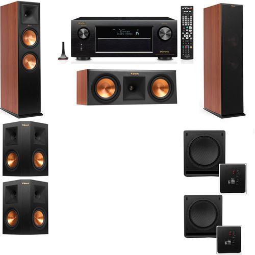 Klipsch RP-280F Tower Speakers CH-RP-250C-SW-112-5.2-Denon AVR-X3200W