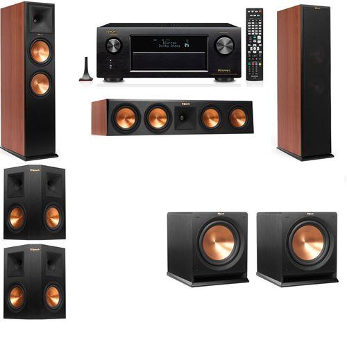Klipsch RP-280F Tower Speakers CH-RP-250C-R-112SW-5.2-Denon AVR-X3200W