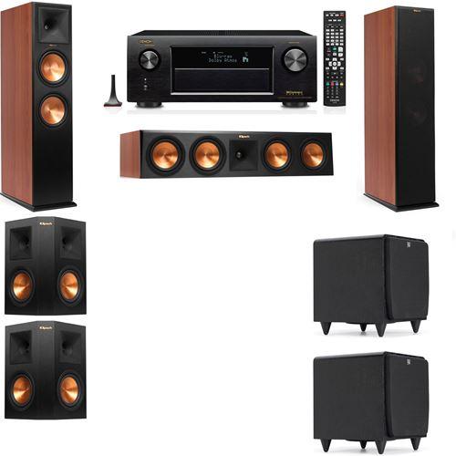 Klipsch RP-280F Tower Speakers CH-SDS12-5.2-Denon AVR-X3200W