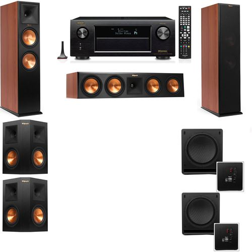 Klipsch RP-280F Tower Speakers CH-SW-112-5.2-Denon AVR-X3200W