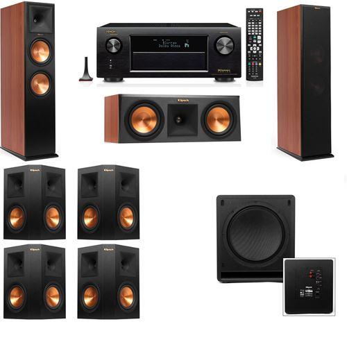 Klipsch RP-280F Tower Speakers CH-RP-250C-SW-112-7.1-Denon AVR-X3200W
