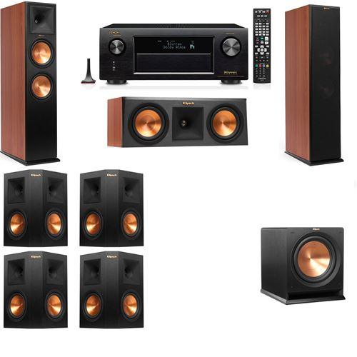 Klipsch RP-280F Tower Speakers CH-RP-250C-R-112SW-7.1-Denon AVR-X3200W