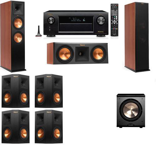 Klipsch RP-280F Tower Speakers CH-RP-250C-PL-200-7.1-Denon AVR-X3200W