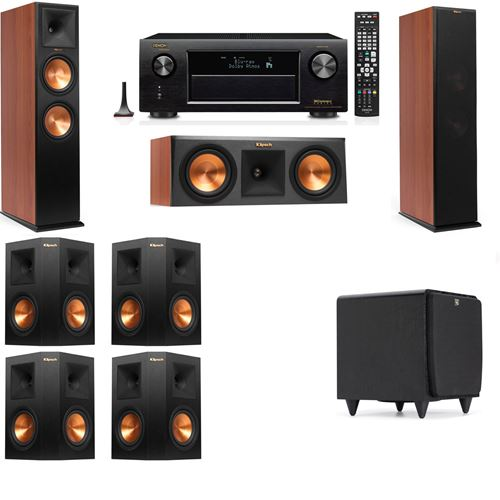 Klipsch RP-280F Tower Speakers CH-RP-250C-SDS12 -7.1-Denon AVR-X3200W
