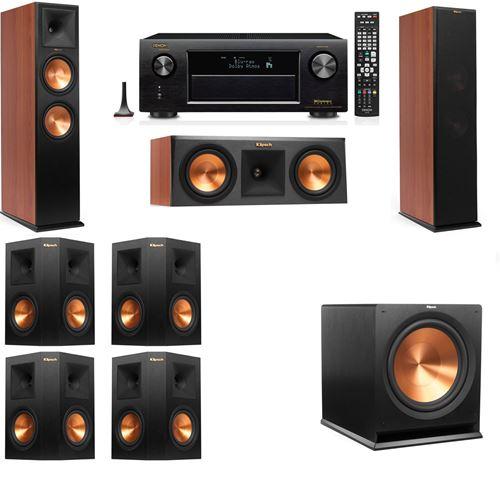 Klipsch RP-280F Tower Speakers CH-RP-250C-7.1-Denon AVR-X3200W