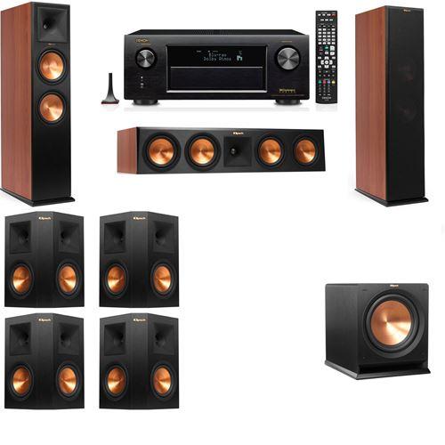 Klipsch RP-280F Tower Speakers CH-R112SW-7.1-Denon AVR-X3200W