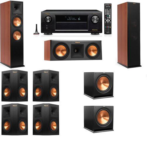 Klipsch RP-280F Tower Speakers CH-RP-250C-7.2-Denon AVR-X3200W