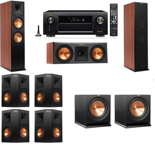 Klipsch RP-280F Tower Speakers CH-RP-250C-R-112SW-7.2-Denon AVR-X3200W