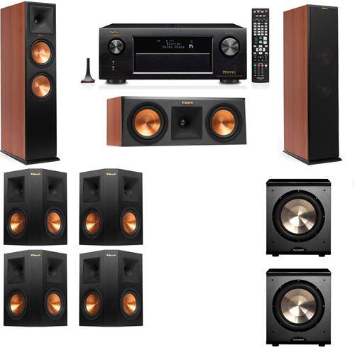 Klipsch RP-280F Tower Speakers CH-RP-250C-PL-200-7.2-Denon AVR-X3200W