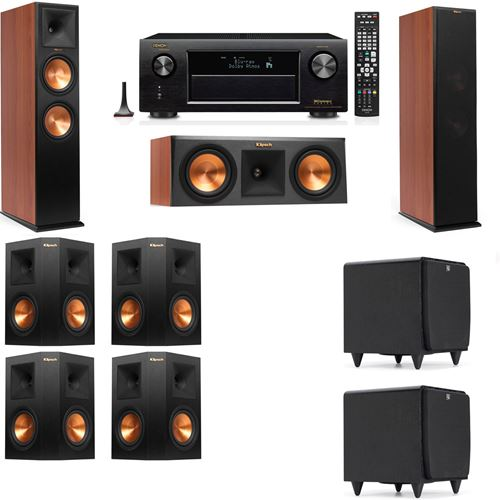 Klipsch RP-280F Tower Speakers CH-RP-250C-SDS12 -7.2-Denon AVR-X3200W