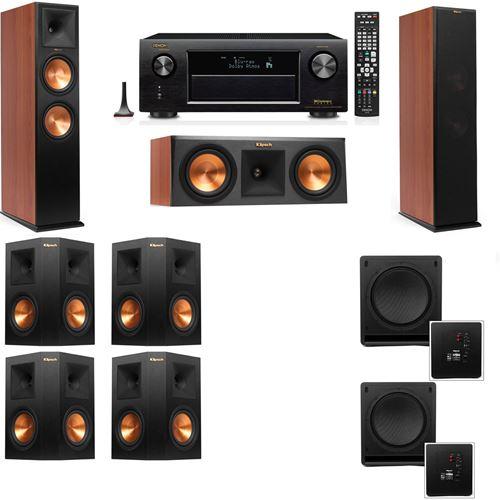Klipsch RP-280F Tower Speakers CH-RP-250C-SW-112-7.2-Denon AVR-X3200W