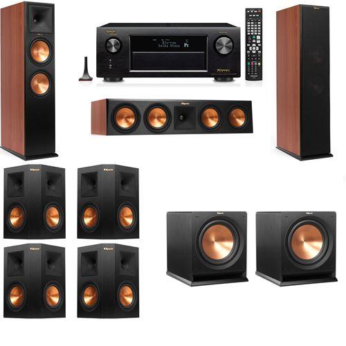 Klipsch RP-280F Tower Speakers CH-R112SW-7.2-Denon AVR-X3200W