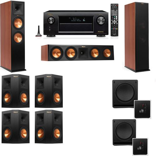 Klipsch RP-280F Tower Speakers CH-SW-112-7.2-Denon AVR-X3200W