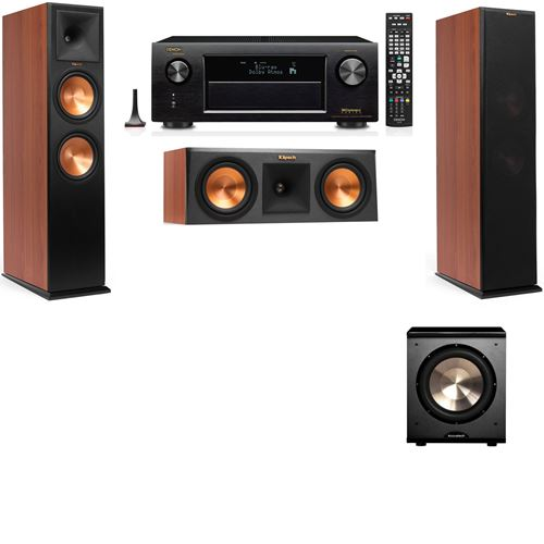 Klipsch RP-280F Tower Speakers CH-RP-250C-PL-200-3.1-Denon AVR-X3200W