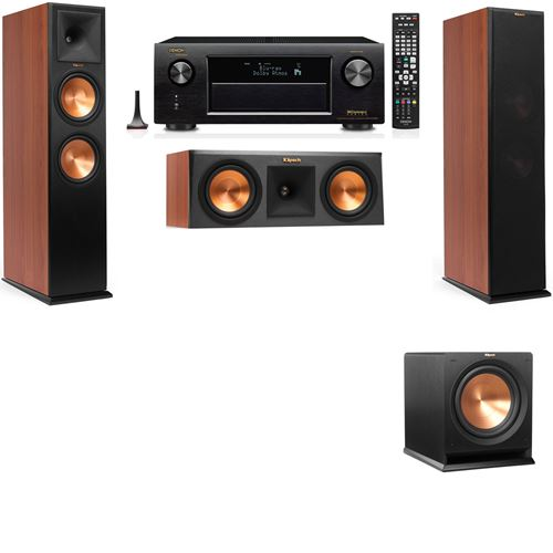 Klipsch RP-280F Tower Speakers CH-RP-250C-R-112SW-3.1-Denon AVR-X3200W
