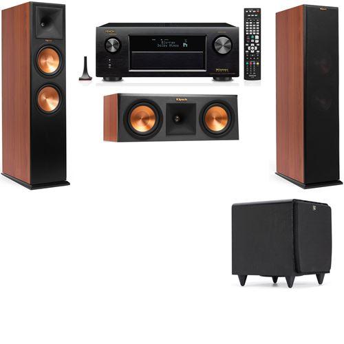 Klipsch RP-280F Tower Speakers CH-RP-250C-SDS12 -3.1-Denon AVR-X3200W