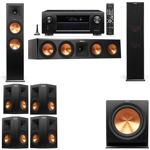 Klipsch RP-280F Tower Speakers-7.1-Denon AVR-X3200W